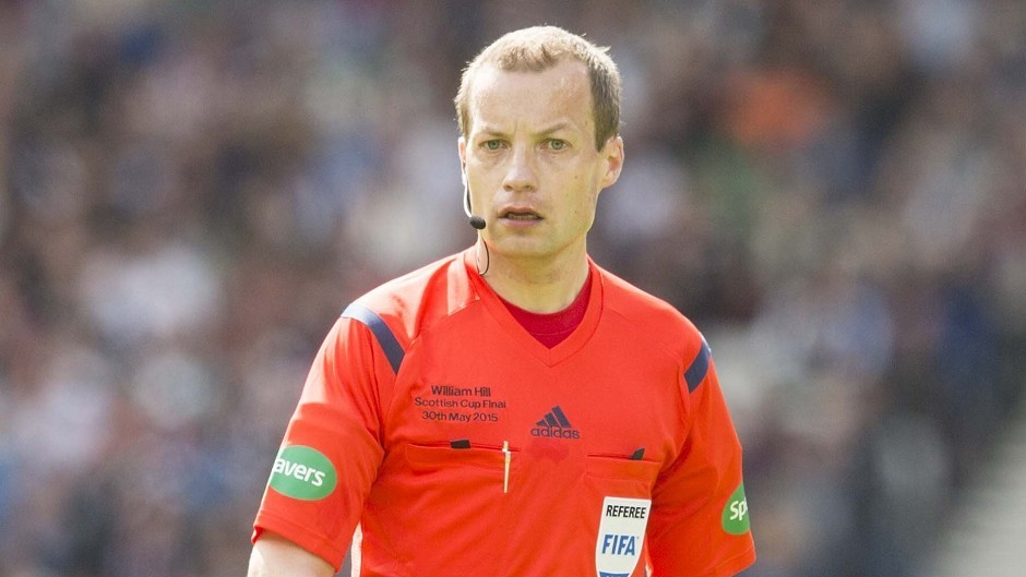 Referee Willie Collum is trained in how to use VAR
