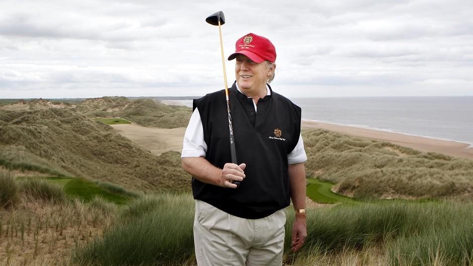 Donald Trump at the Menie Estate
