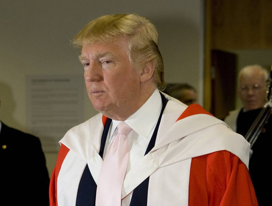 Donald Trump has been stripped of his RGU honorary degree