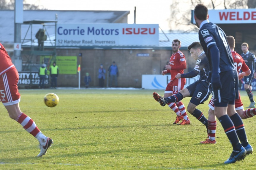 Ross County's Ian McShane (right) makes it 3-2.