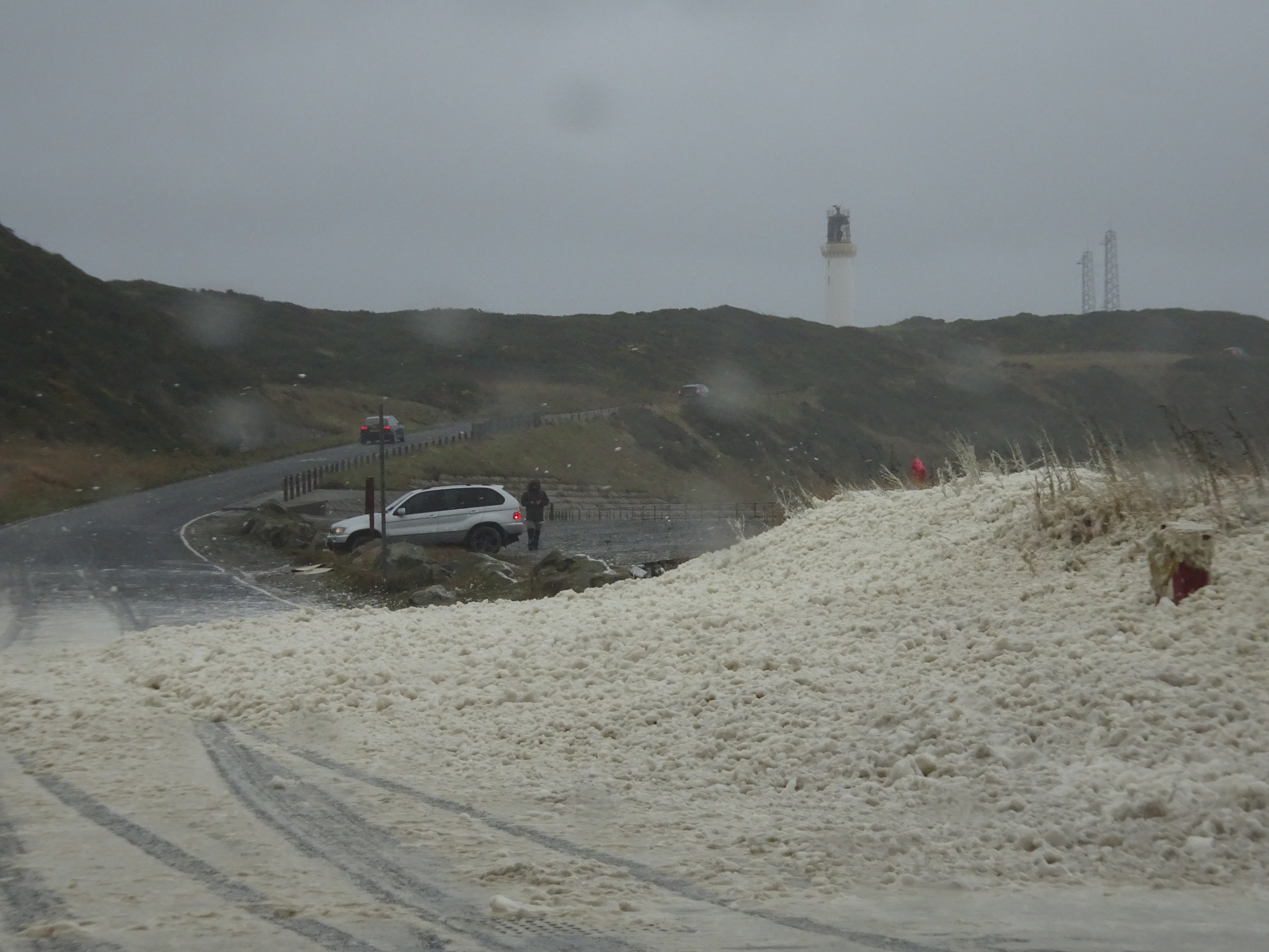 Sea foam at Nigg yesterday. Picture by reader Iain Henderson.
