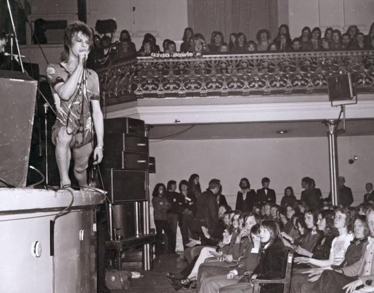 David Bowie as Ziggy Stardust in Aberdeen