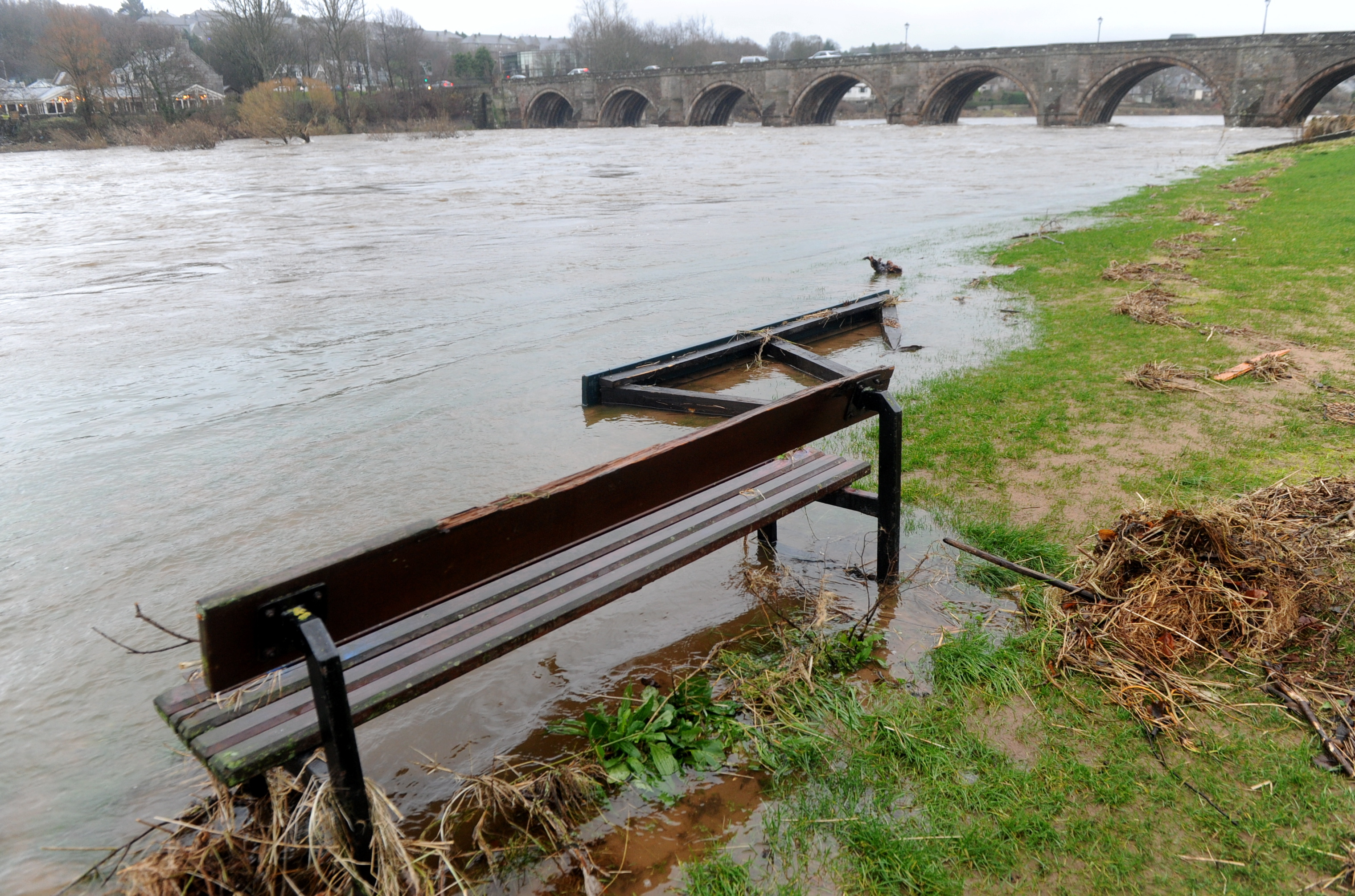 The River Dee broke its banks again after heavy rain at the weekend. Picture by Chris Sumner