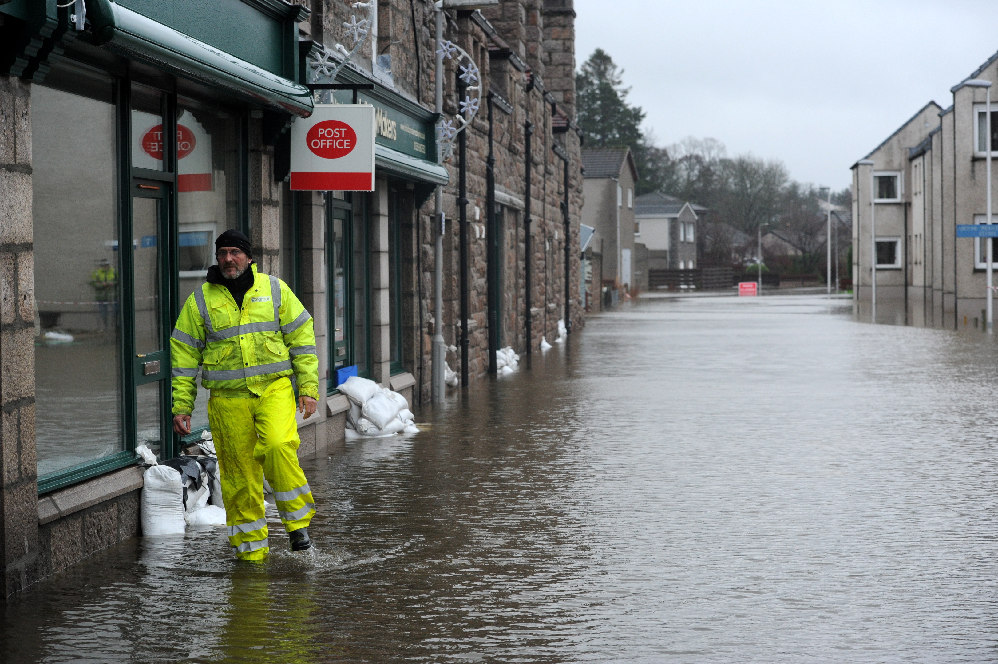 Six days into the month, Aboyne had already seen its wettest January on record.