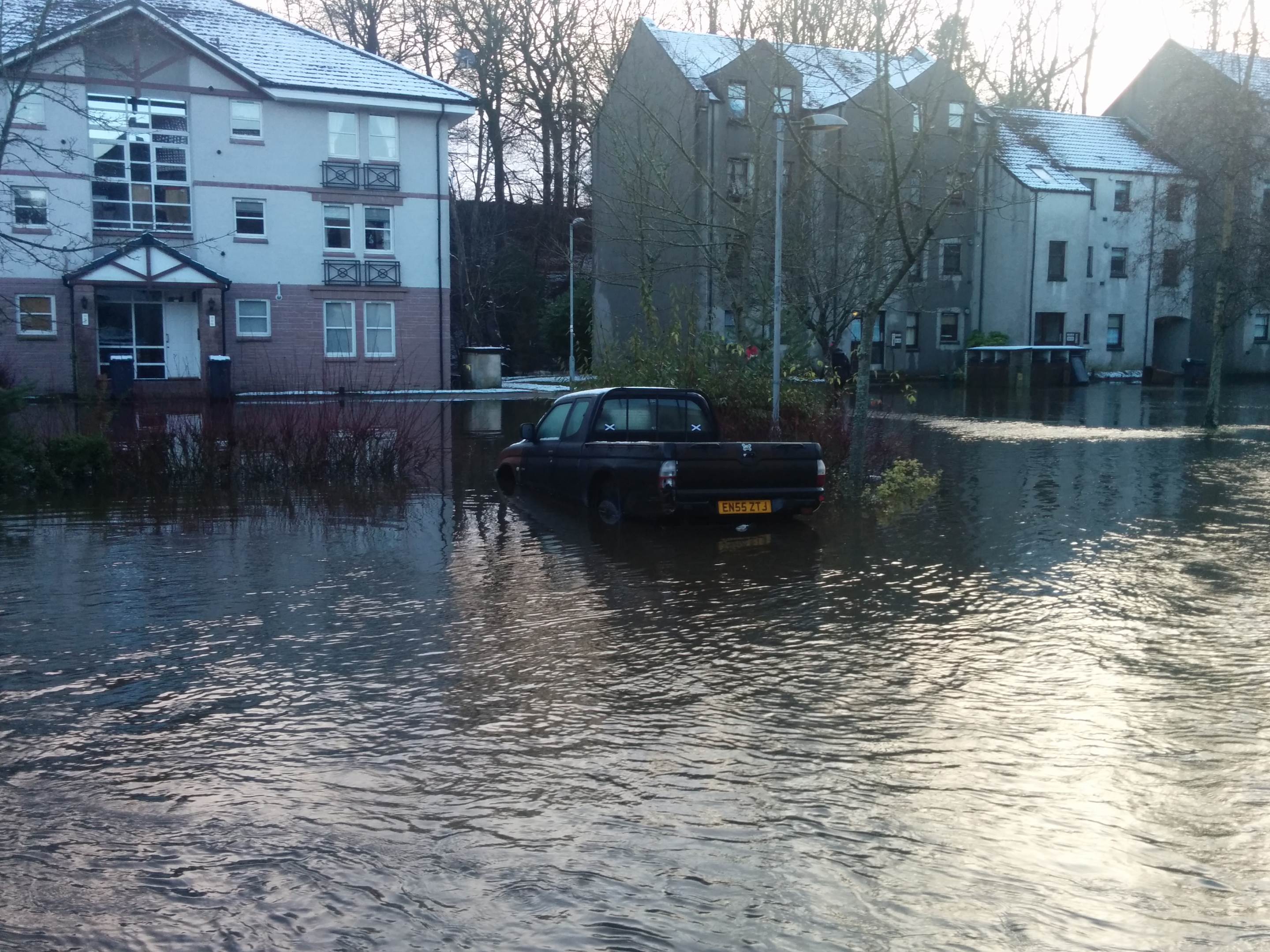 Flooding in the Millside area of Peterculter earlier this year.