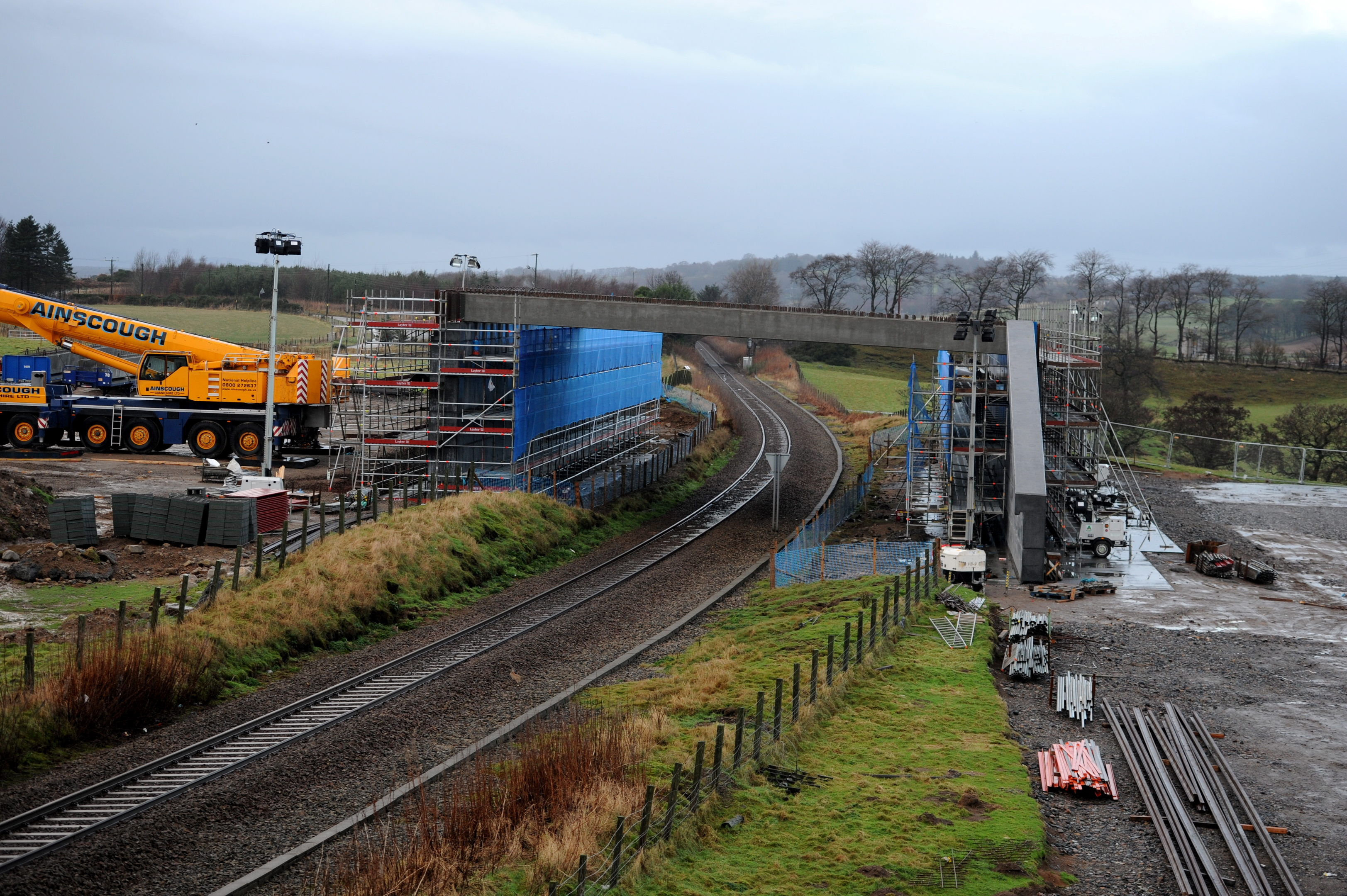The site of the new bridge over the Aberdeen to Inverness railway line. picture by darrell benns