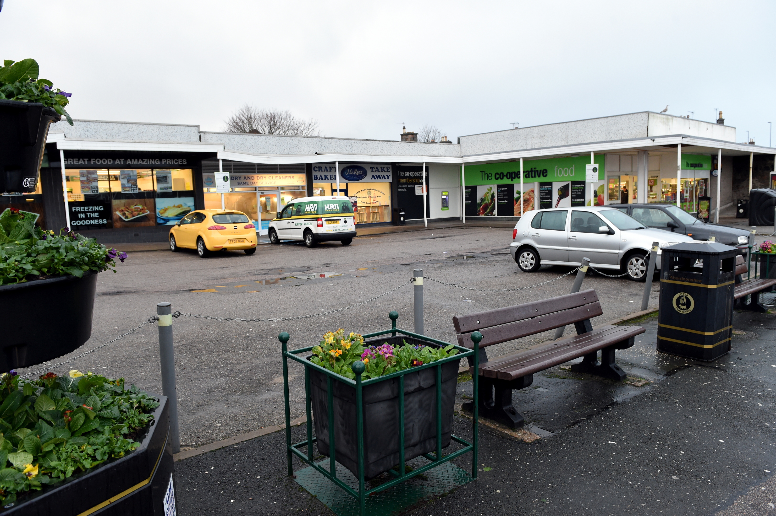 The car park between North Street and Blackhall Road in Inverurie.