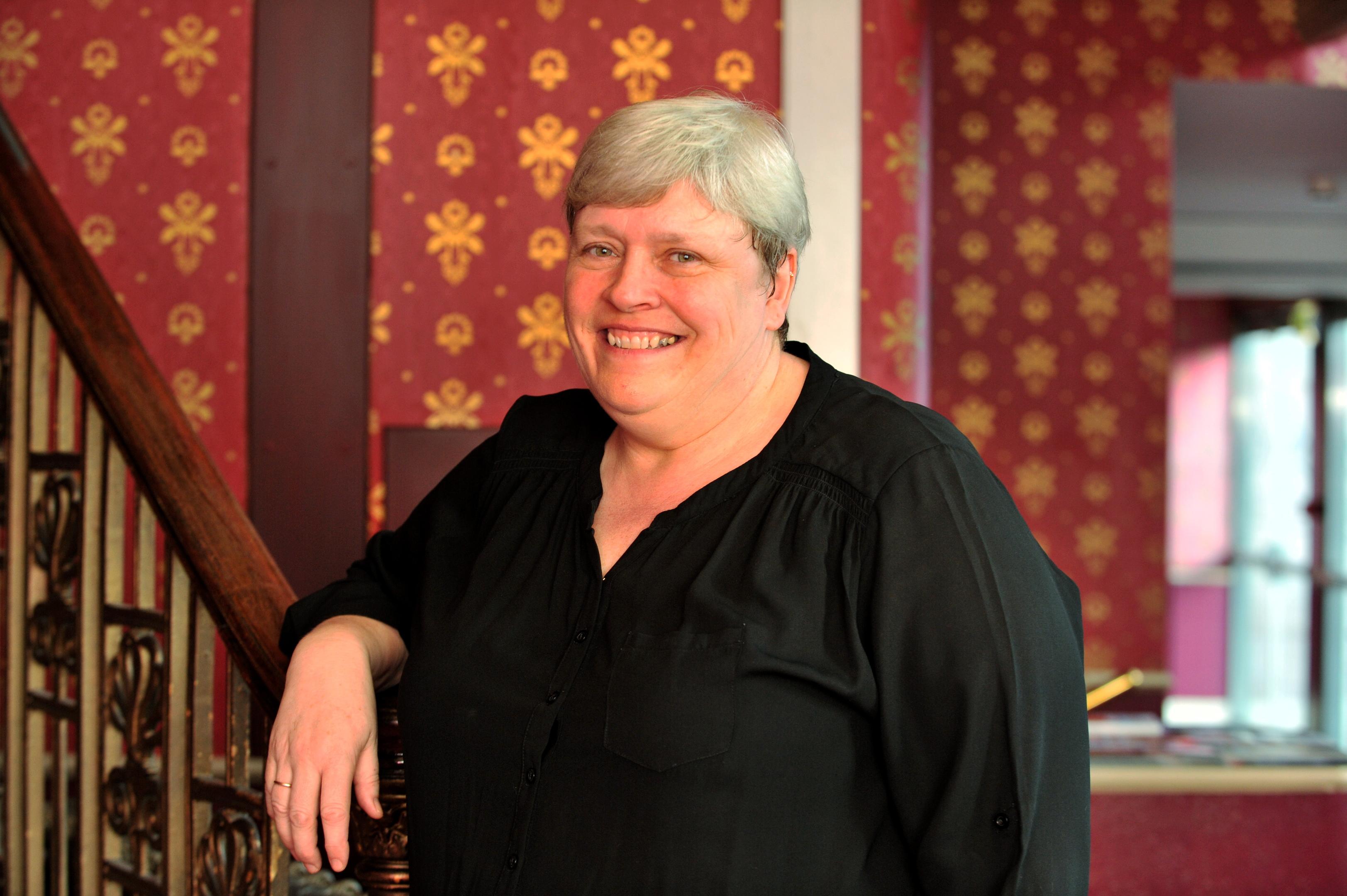 Lesley Crerar translates theatre shows into sign language.