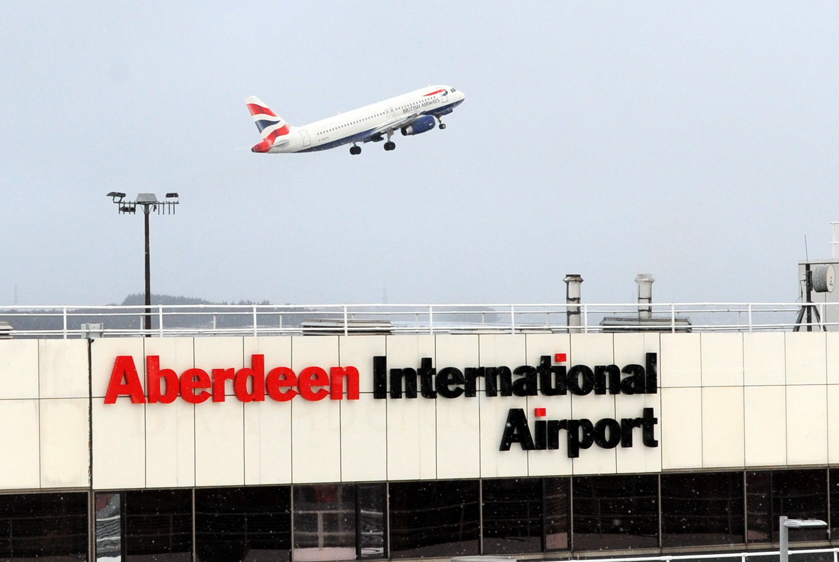 Passenger numbers at Aberdeen International Airport are continuing to fall.