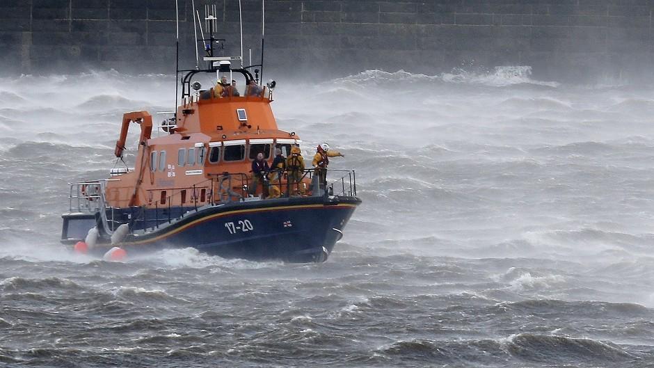 The Buckie Lifeboat was called out to help a vessel