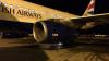 The BA plane involved at Aberdeen International Airport tonight