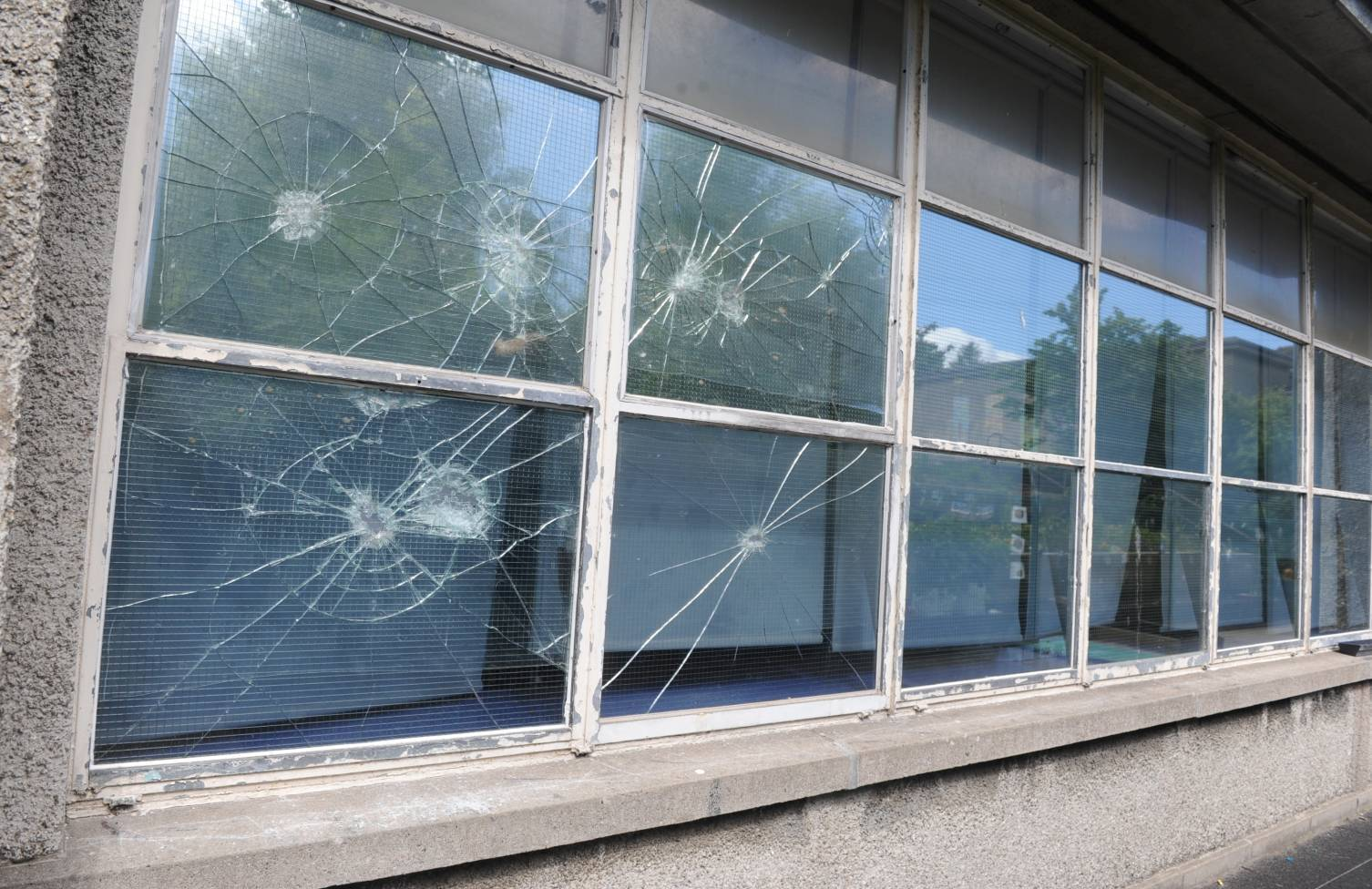 An Aberdeen primary school had its windows smashed earlier this year.