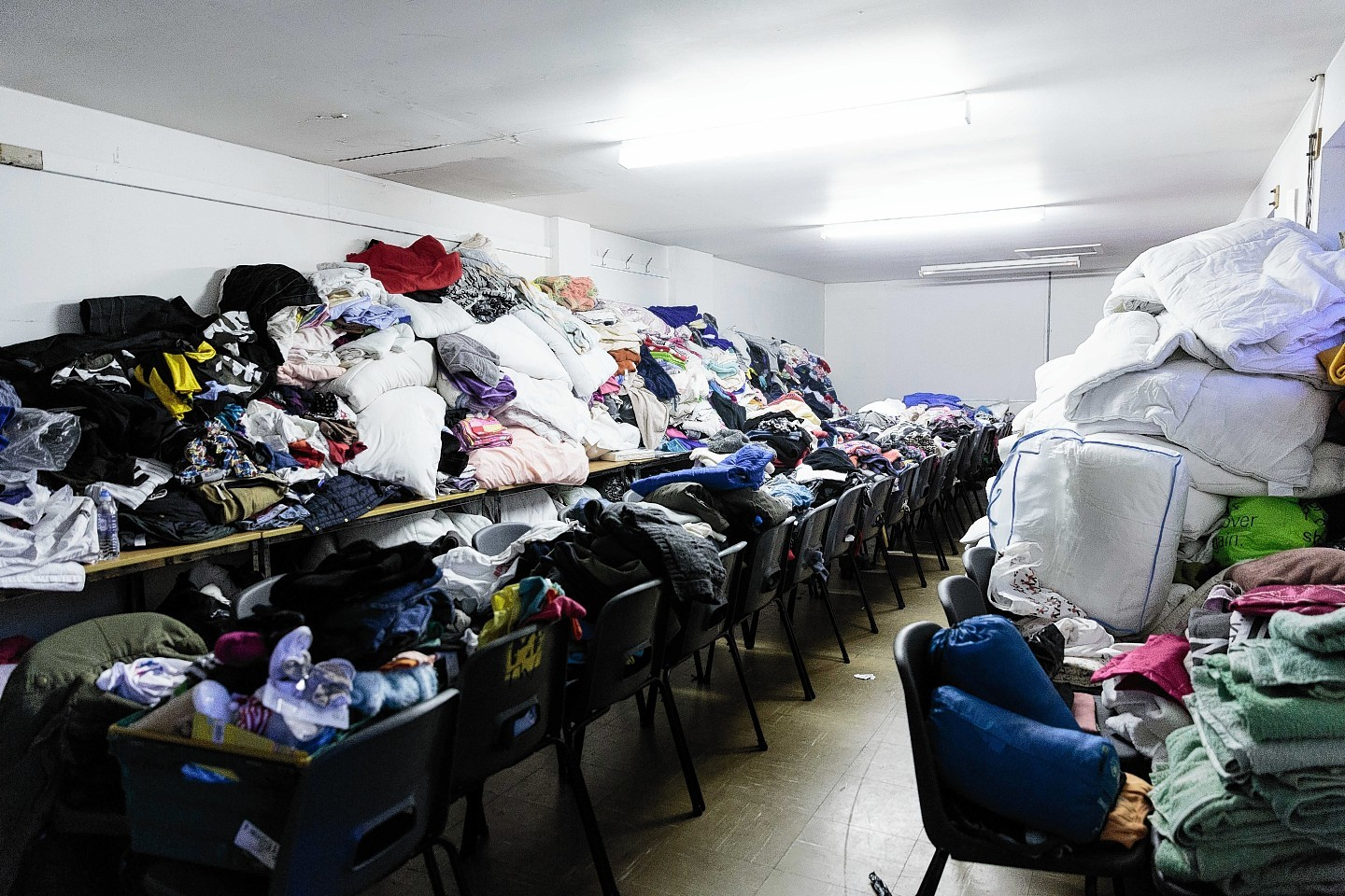 Donations of clothes pack out rooms at the Victoria Barracks