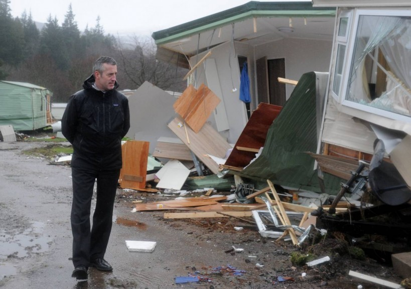 Chief Executive for Aberdeenshire Council Jim Savage is pictured at Ballater Caravan Park, after the floods which badly affected the town.