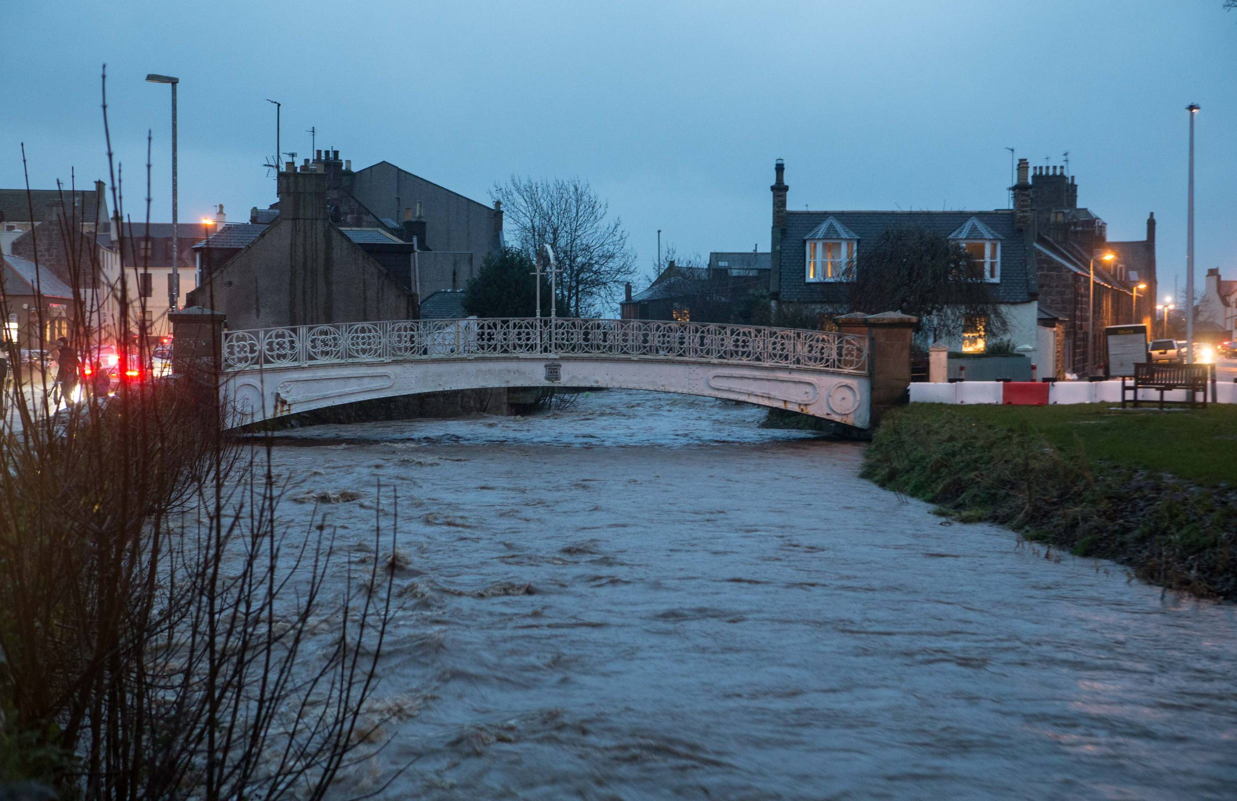 The River Carron gets close to its limits tonight