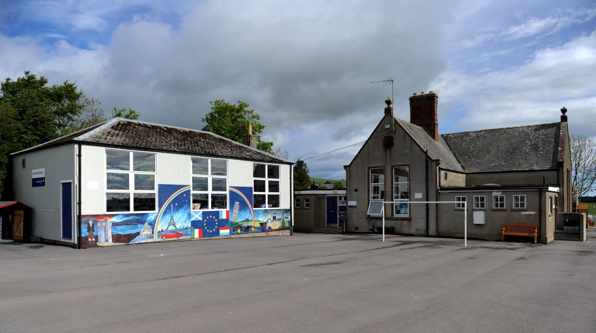 Easterfield School, near Turriff, one of four North-east primaries shut today.