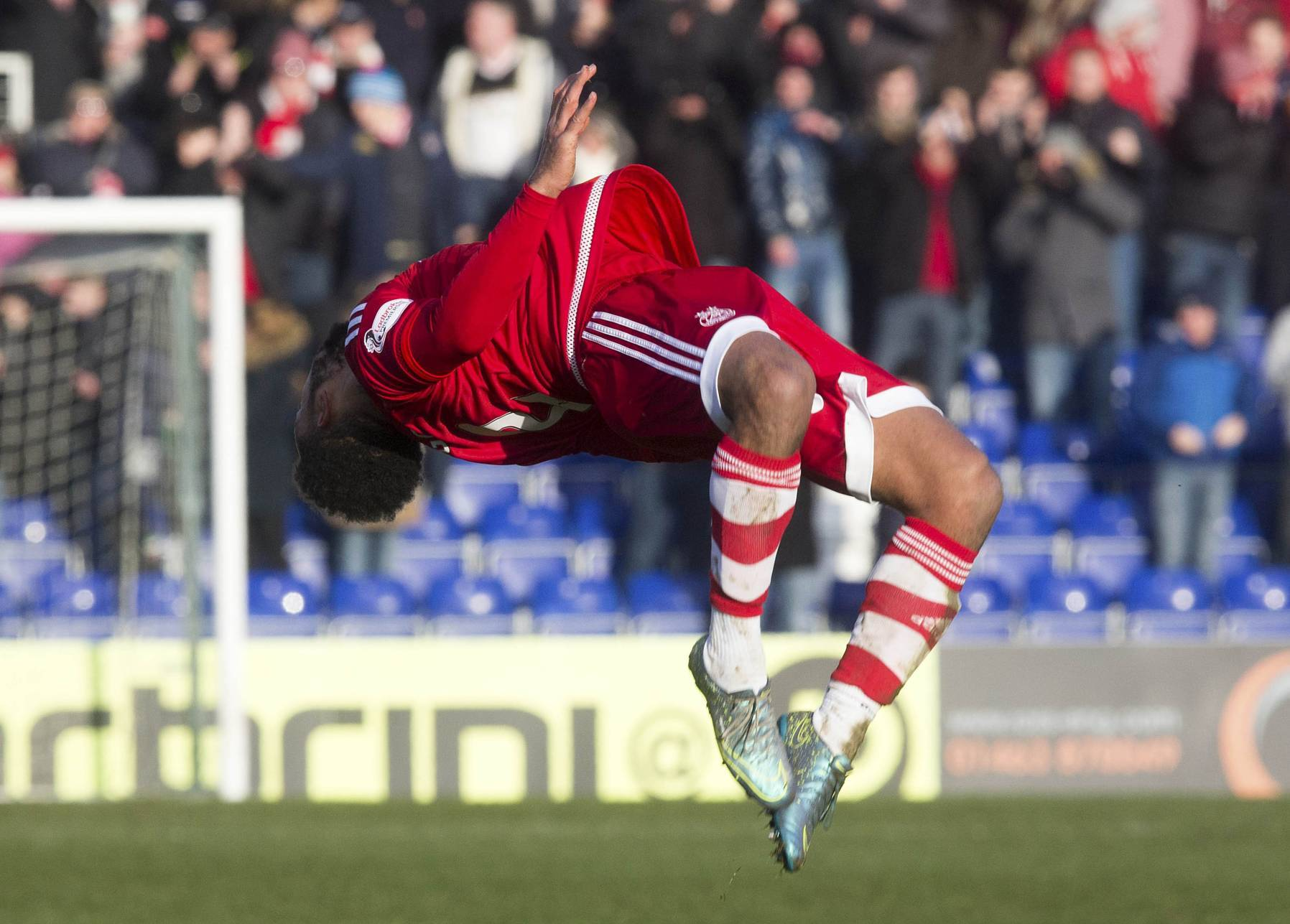 Shay Logan celebrates  as only he can