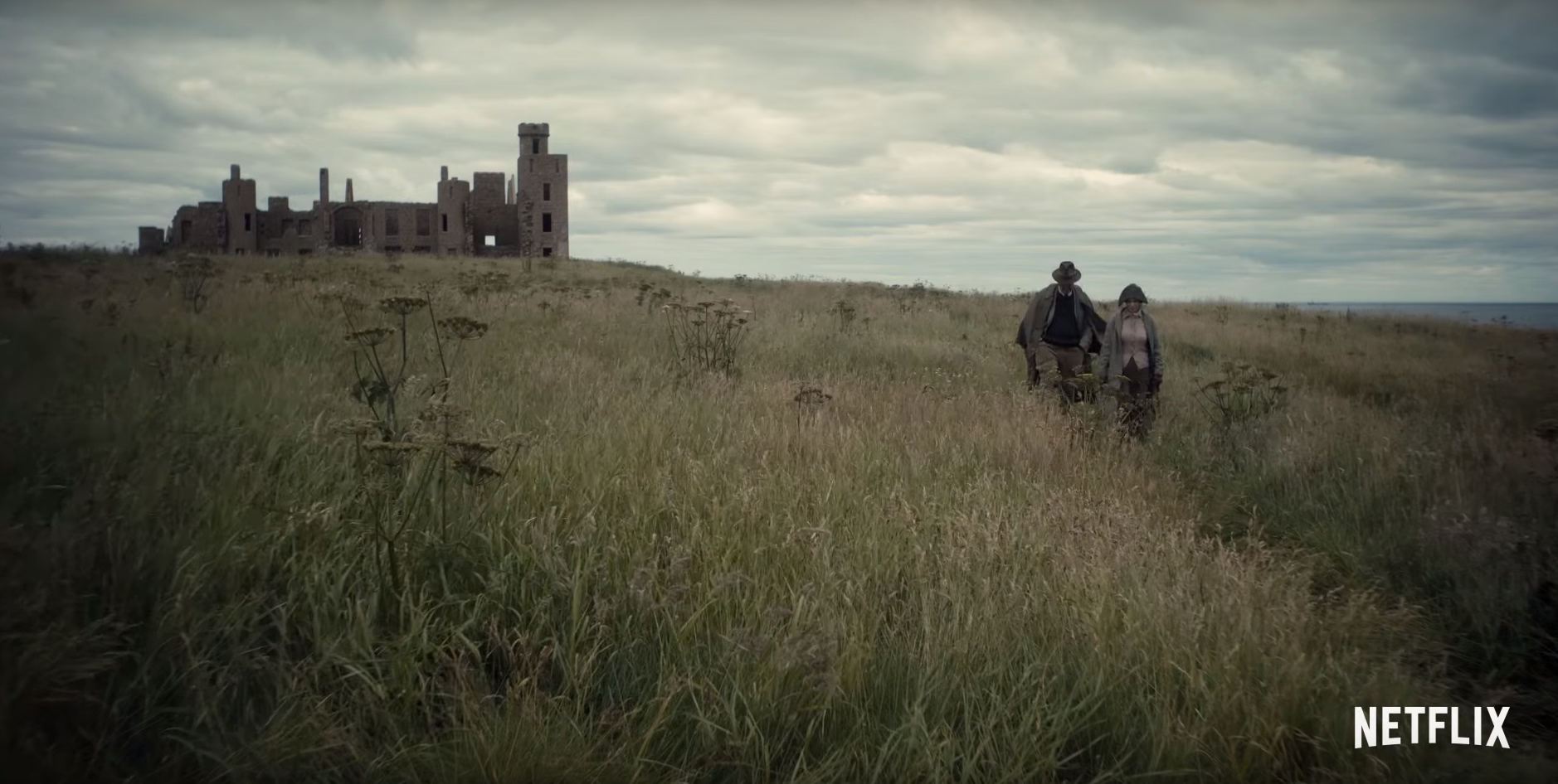 Slains Castle as it appears in The Crown