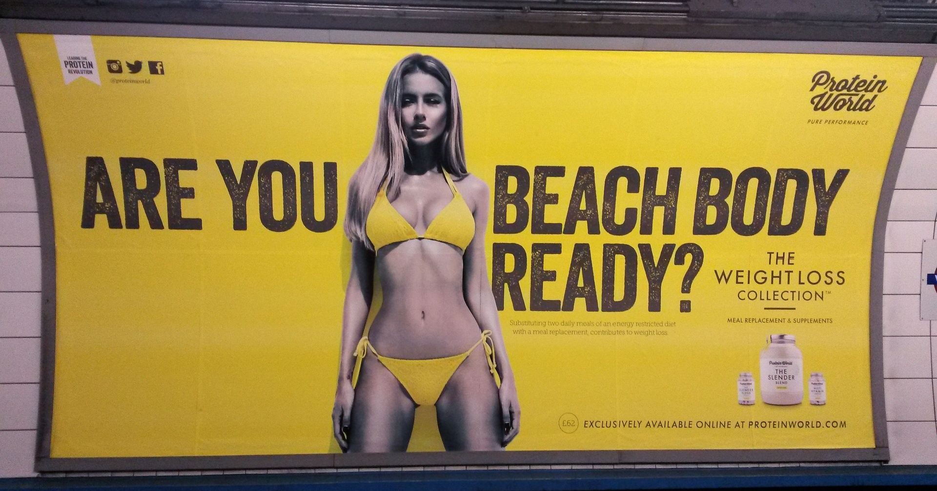Protein World advert.