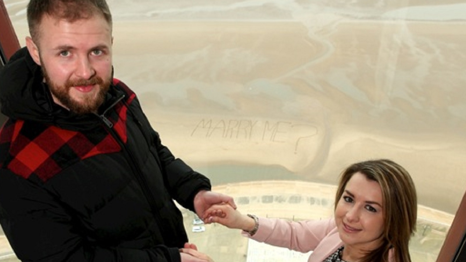 couple at top of blackpool tower