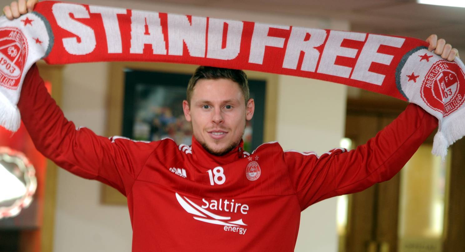 Aberdeen FC's latest signing, Simon Church. Picture by Chris Sumner.