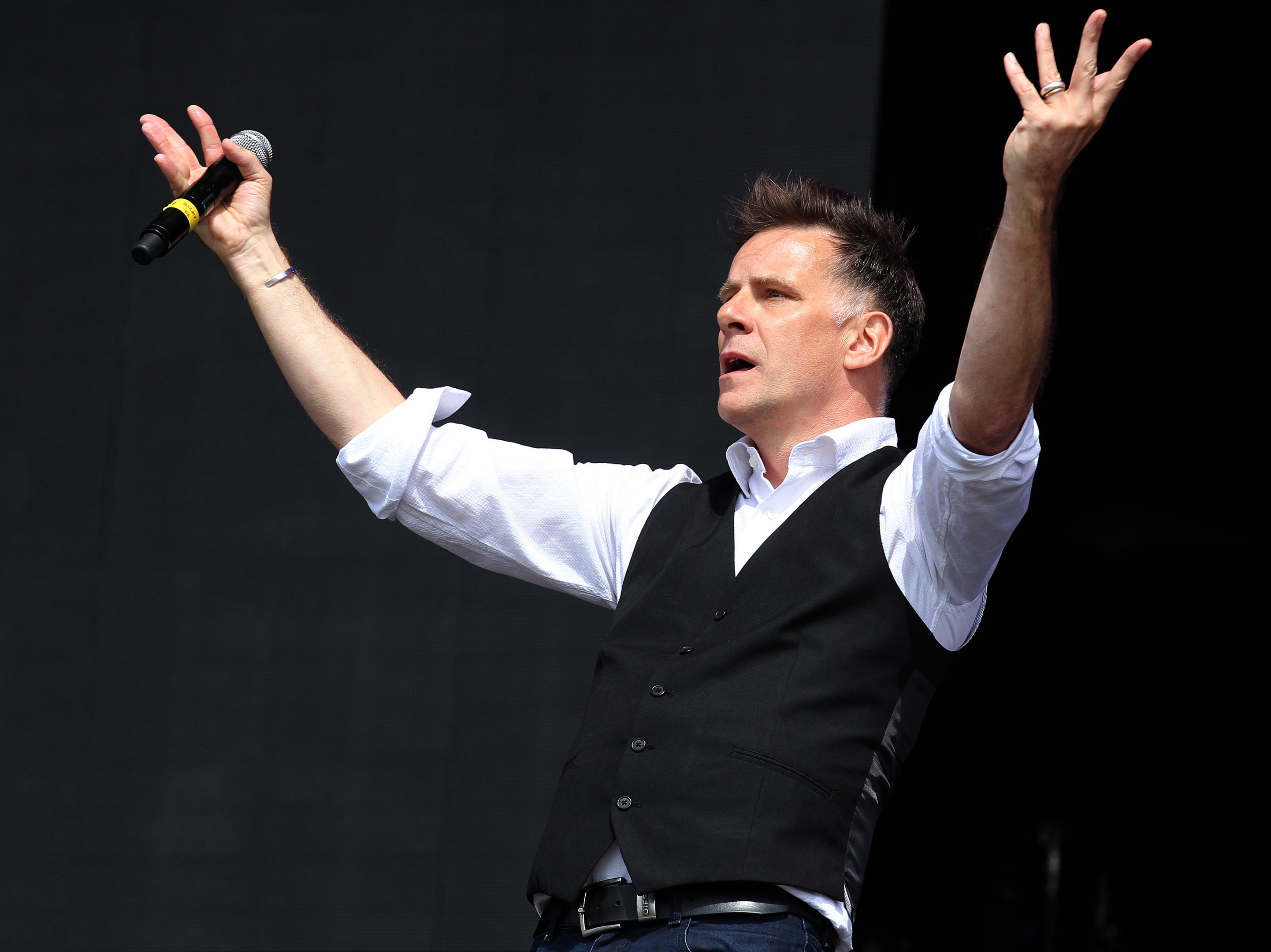 eacon Blue's Ricky Ross performing at T in the Park.