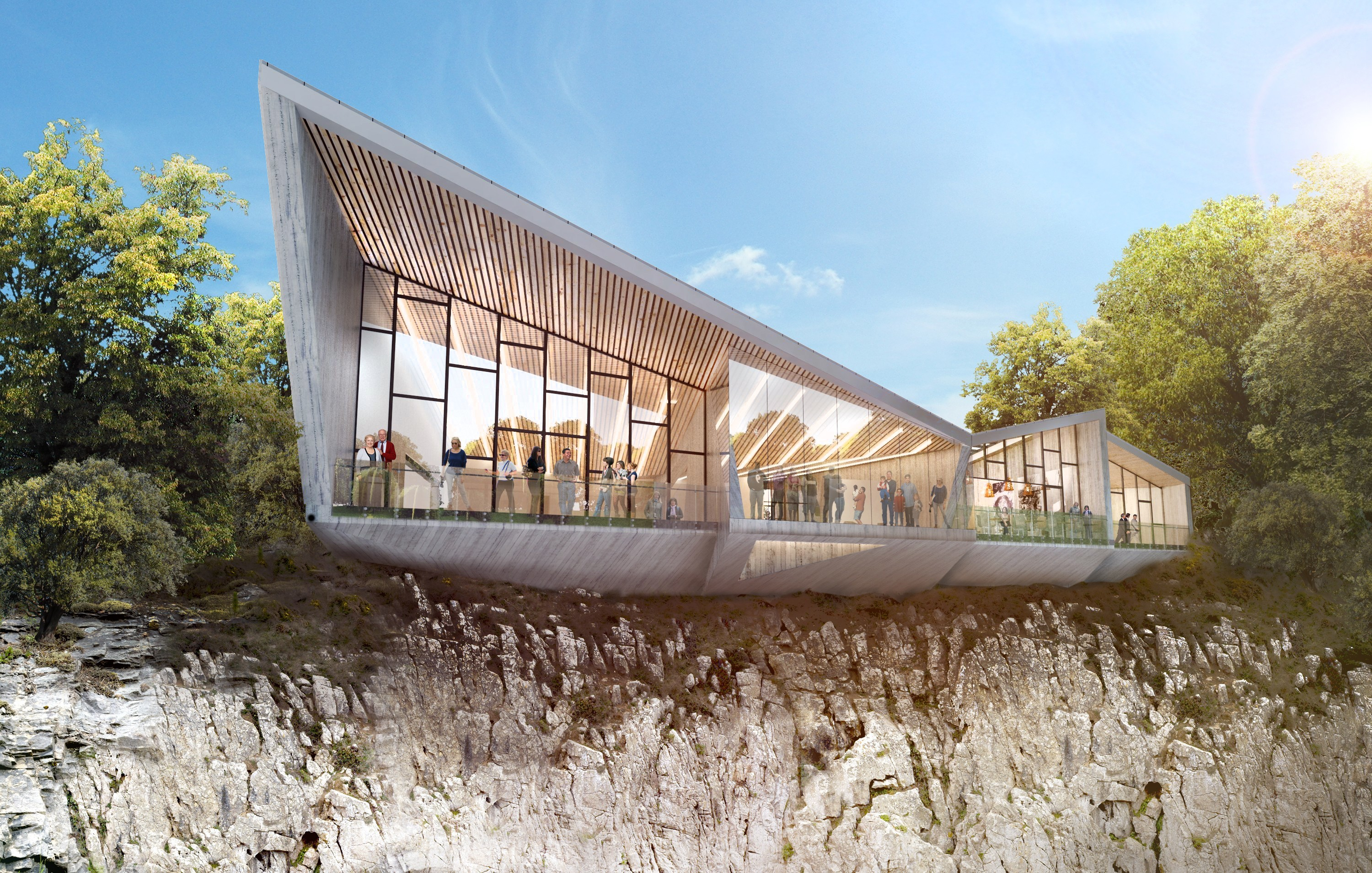 An artist's impression of how a new heritage centre at Aberdeen's Rubislaw Quarry could look.