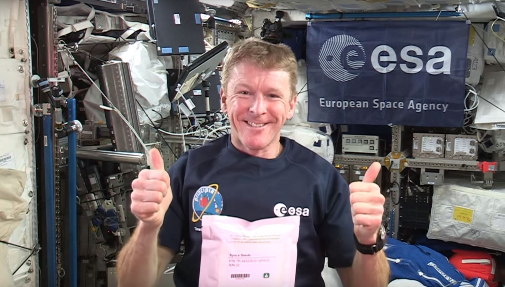 Tim Peake beamed a video message to thousands of schools asking them to grow the space seeds.