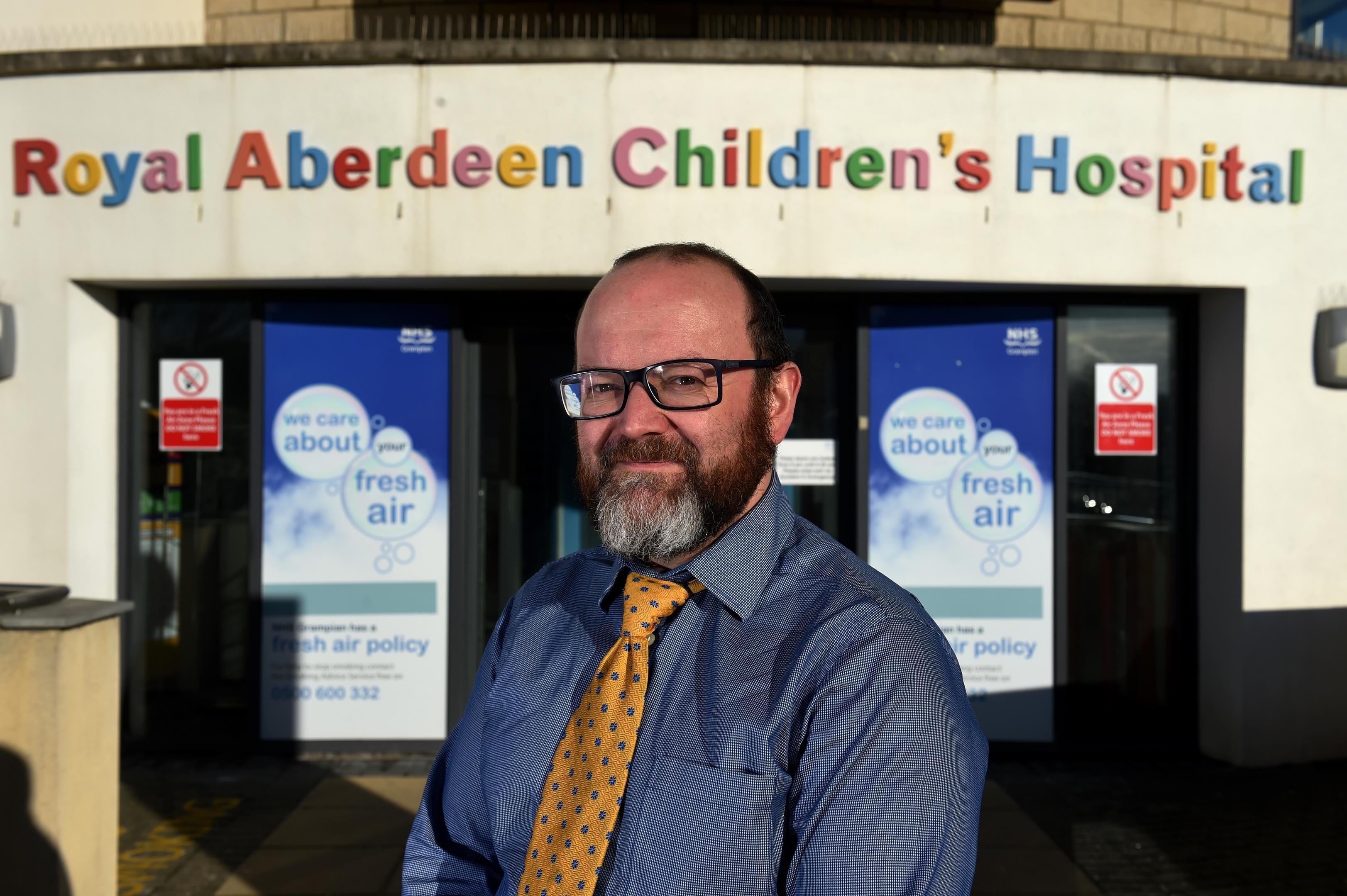Royal Aberdeen Children's Hospital's  Cameron  Matthew.