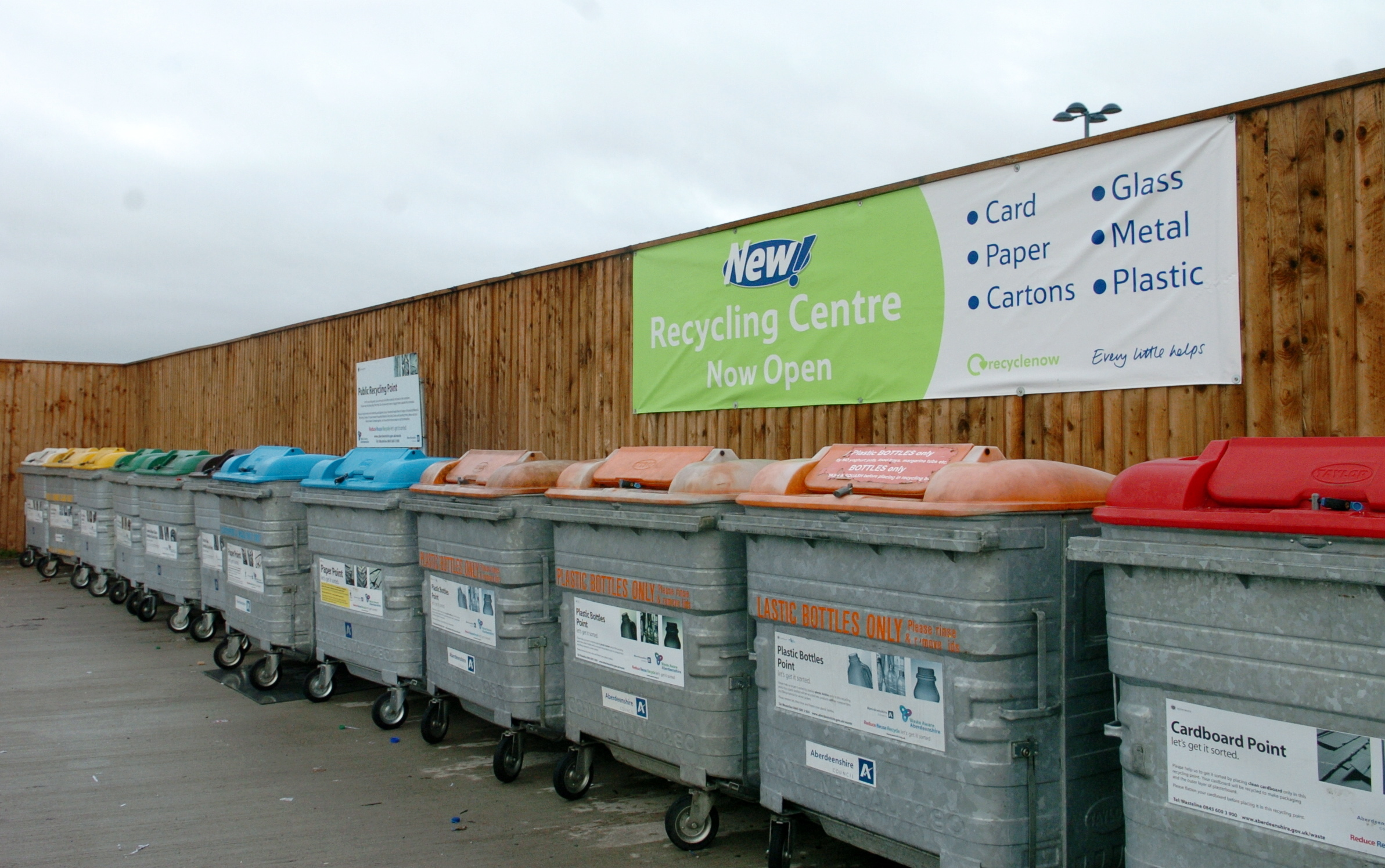 Waste and recycling services in Aberdeenshire are currently shut