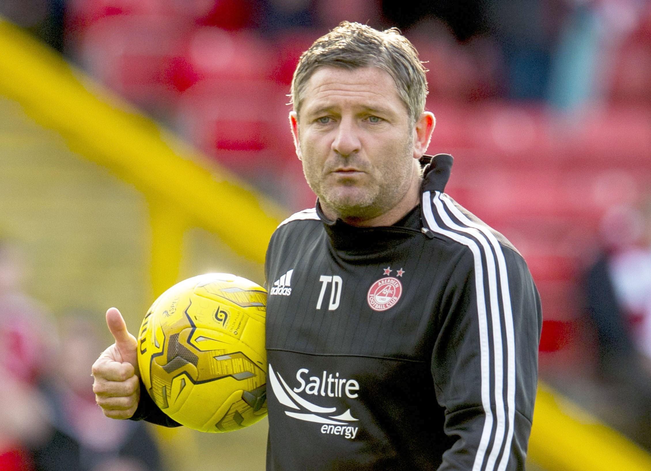 Aberdeen assistant Tony Docherty.