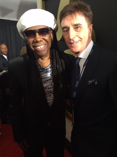 Tony Cochrane with Nile Rodgers .