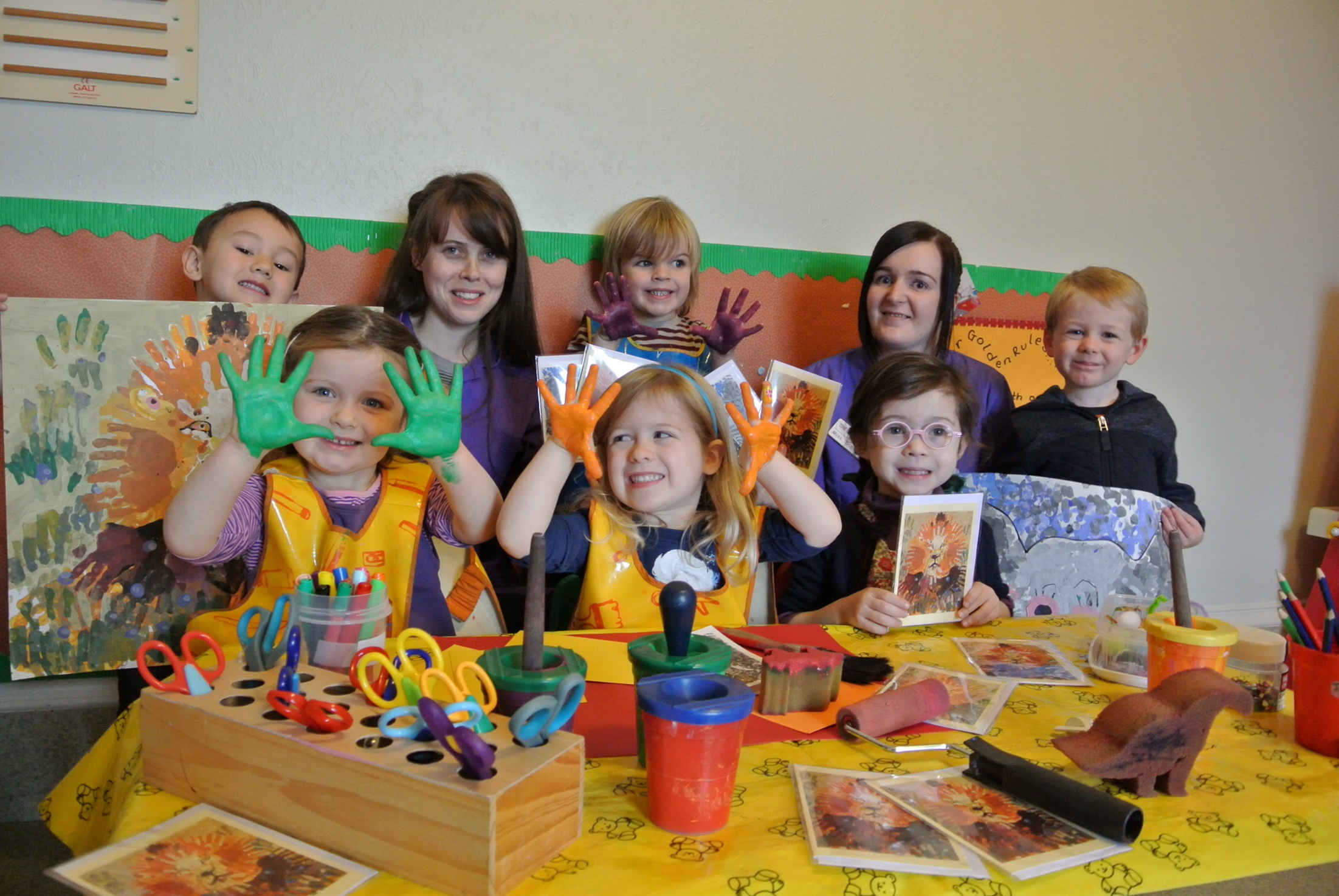 Preschool children at St Swithin Nursery raised funds.