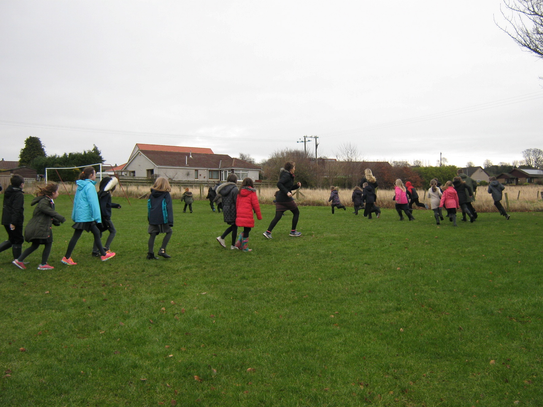 Youngsters at Marykirk Primary enjoy taking part in the Mile a Day challenge.