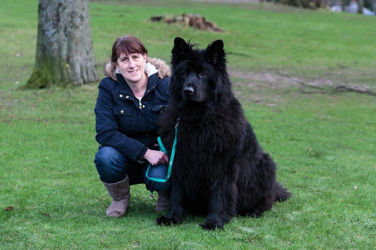 Zeus with his owner Debbie Duncan