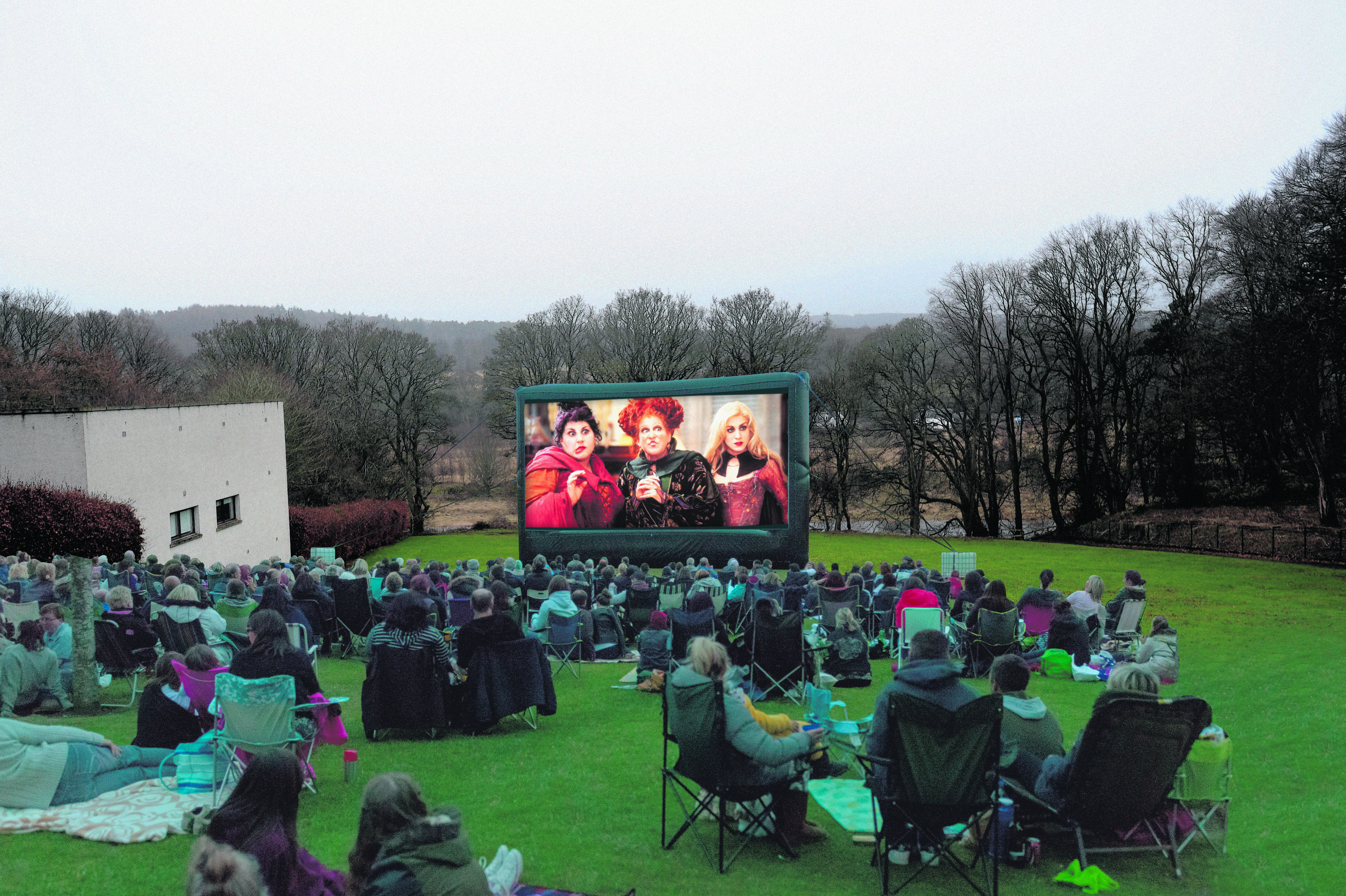 This is how the Robert Gordon University campus could look when the outdoor cinema event takes place next month.