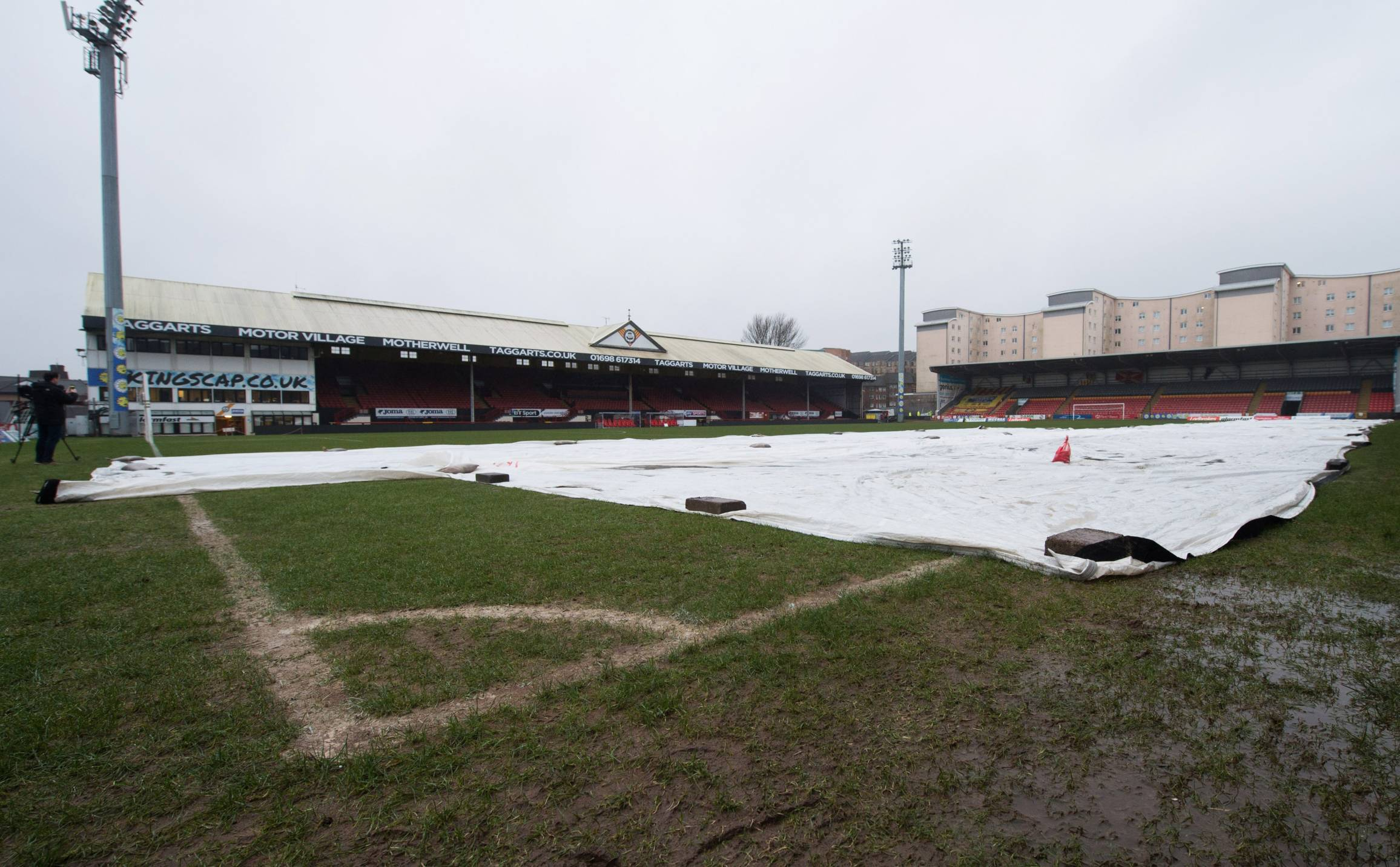 The Firhill pitch was waterlogged