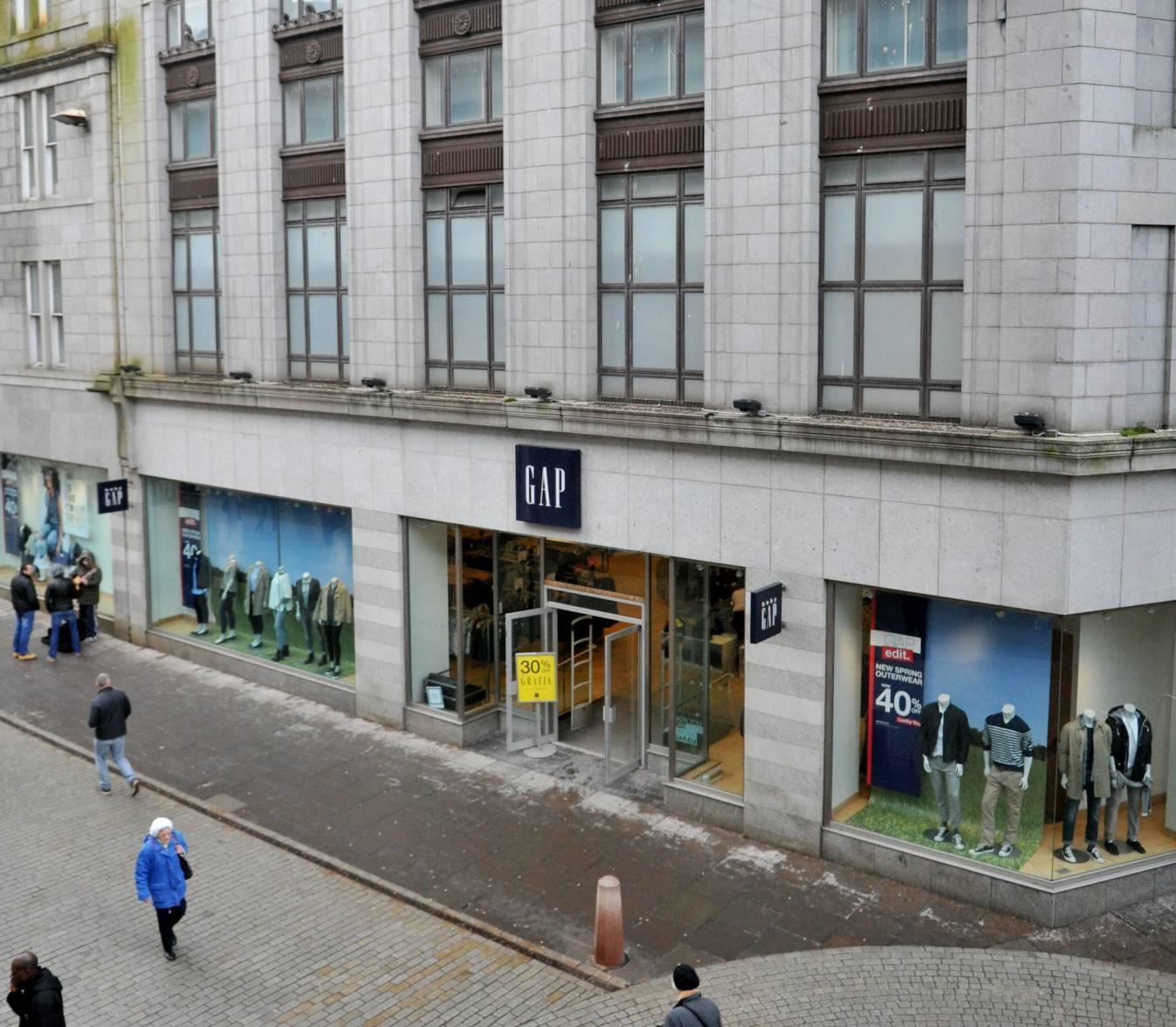 Aberdeen's former Gap store
