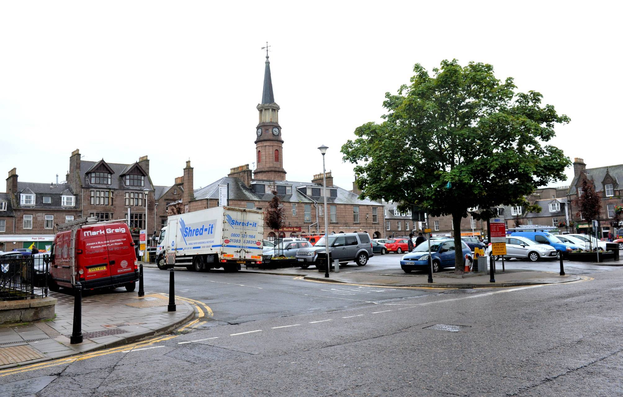 The attack happened in the Market Square area of Stonehaven