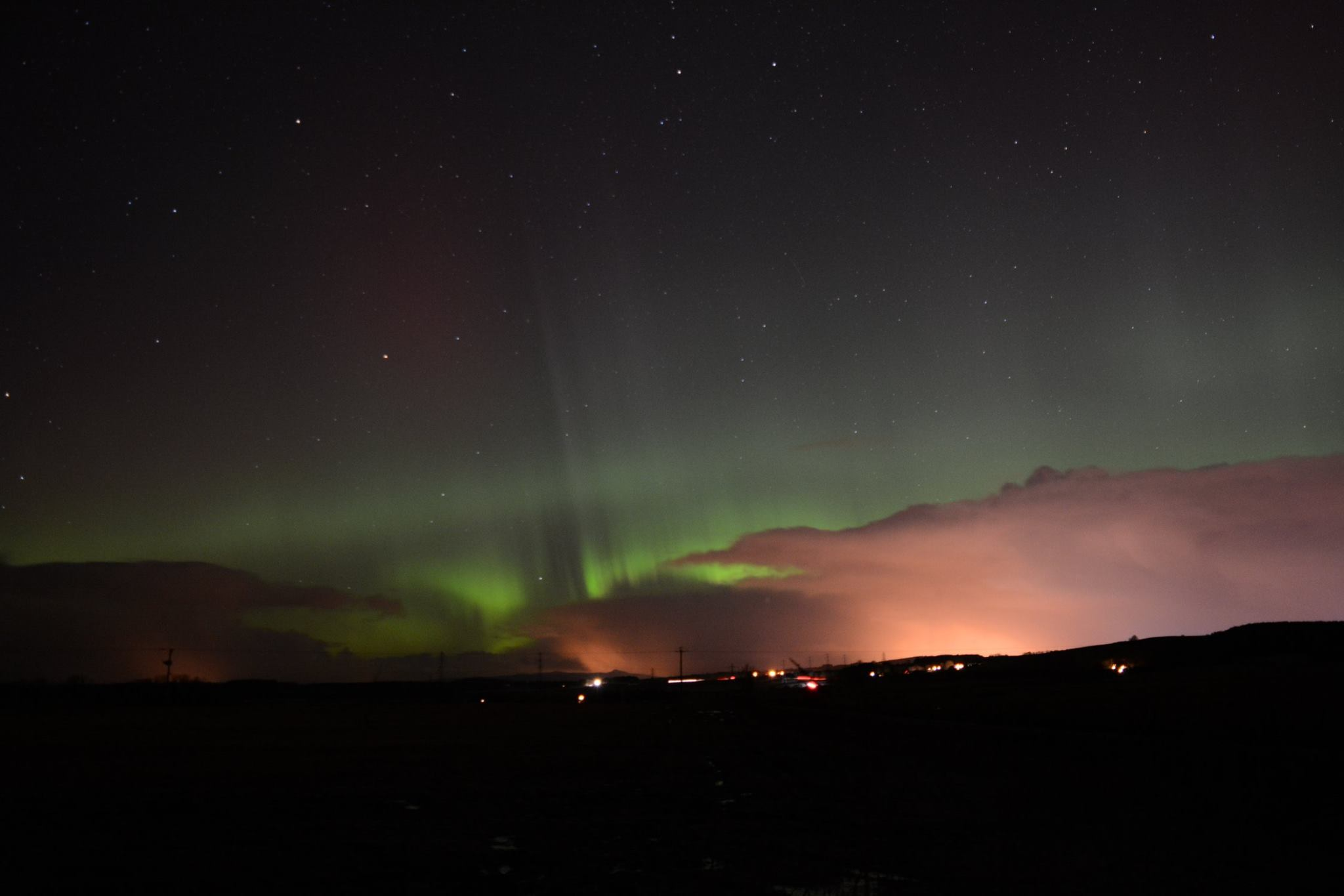 Northern Lights from Peterculter. Pictures by Kieran Whitford