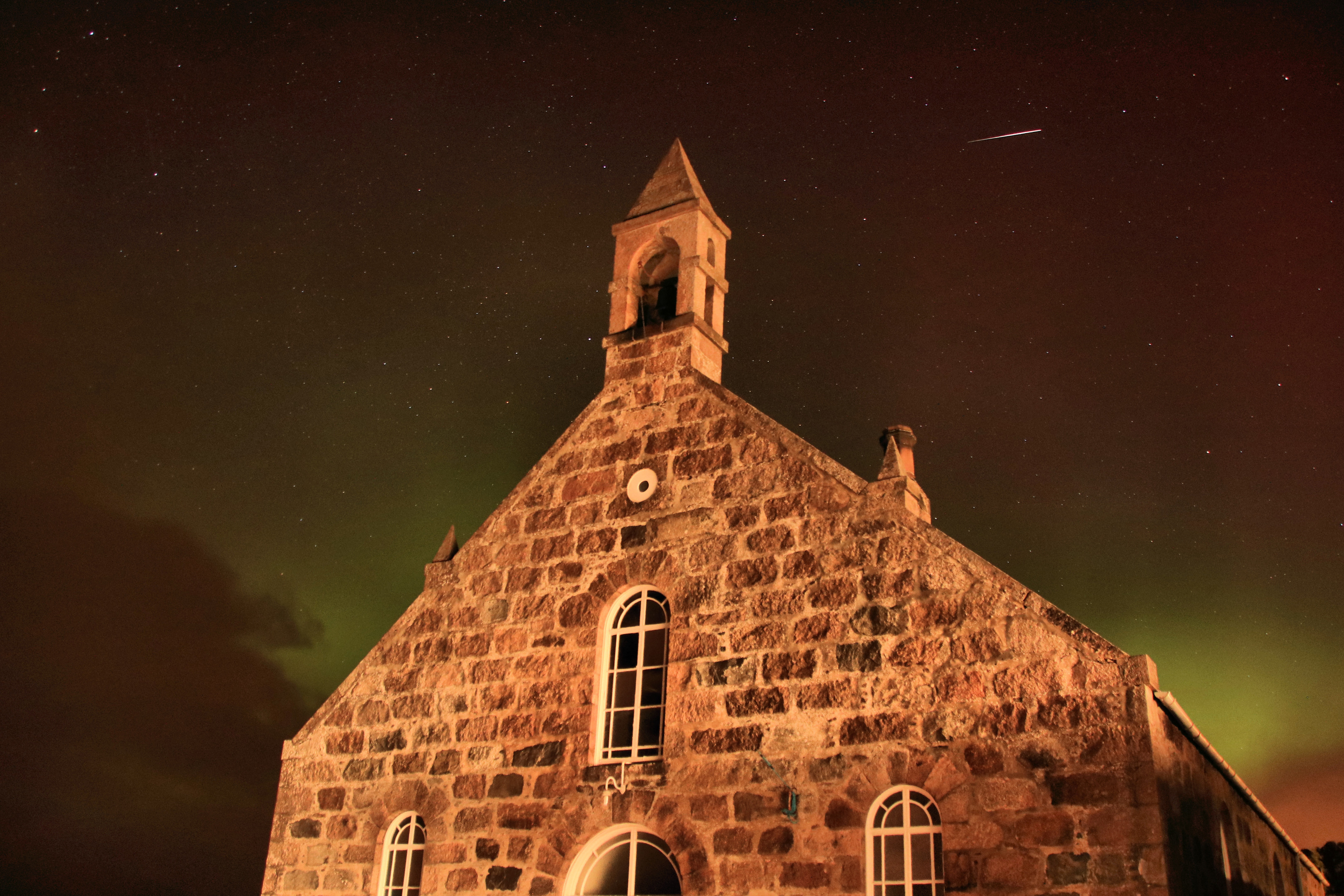 Northern Lights and Meteor over Blairdaff, near Kemnay. Picture by Rick Ellerman