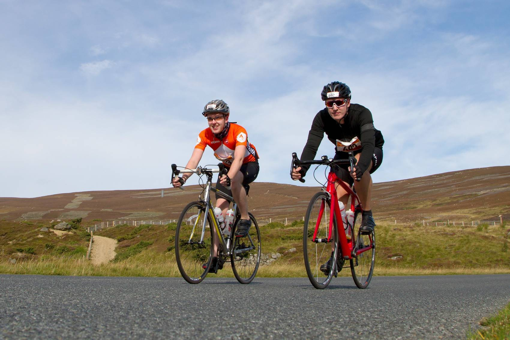 Craig and Lewis Moir are aiming to cycle 10,000 miles each over the course of 12 months.