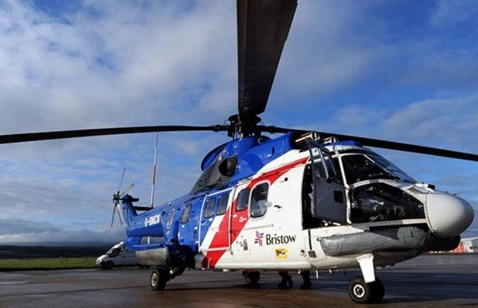 A Bristow helicopter declared and emergency and was forced to land at Aberdeen airport.