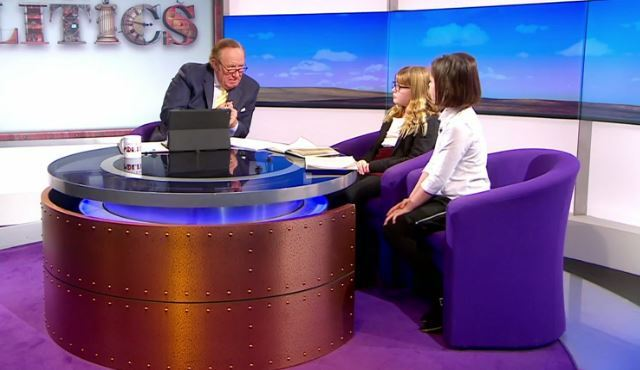 Andrew Neil and his young interviewees