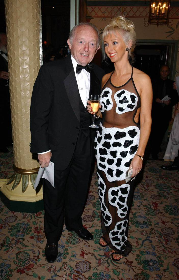 Paul Daniels with his wife Debbie Magee.