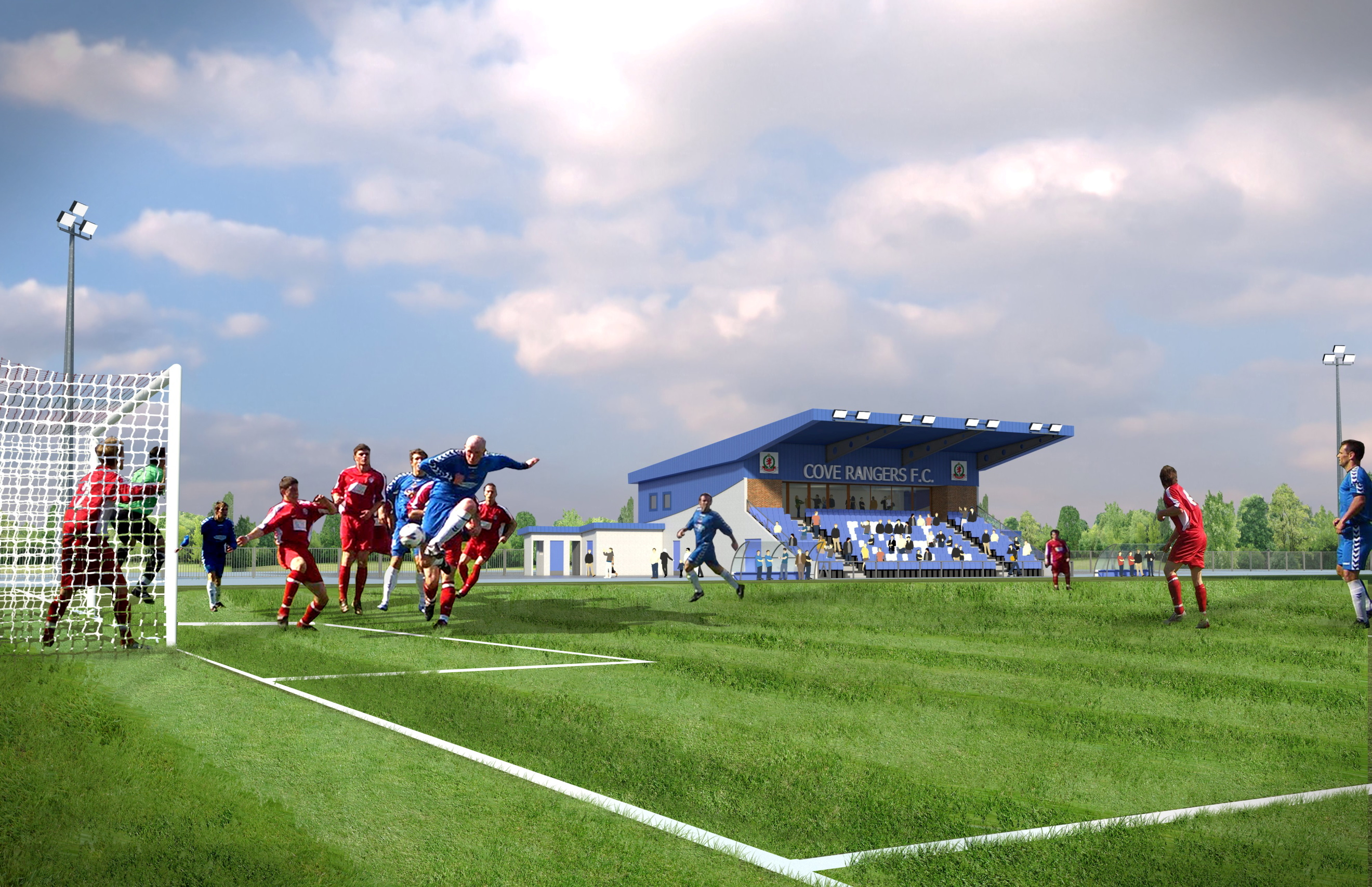 An artist's impression of how Cove Rangers' new ground could look.