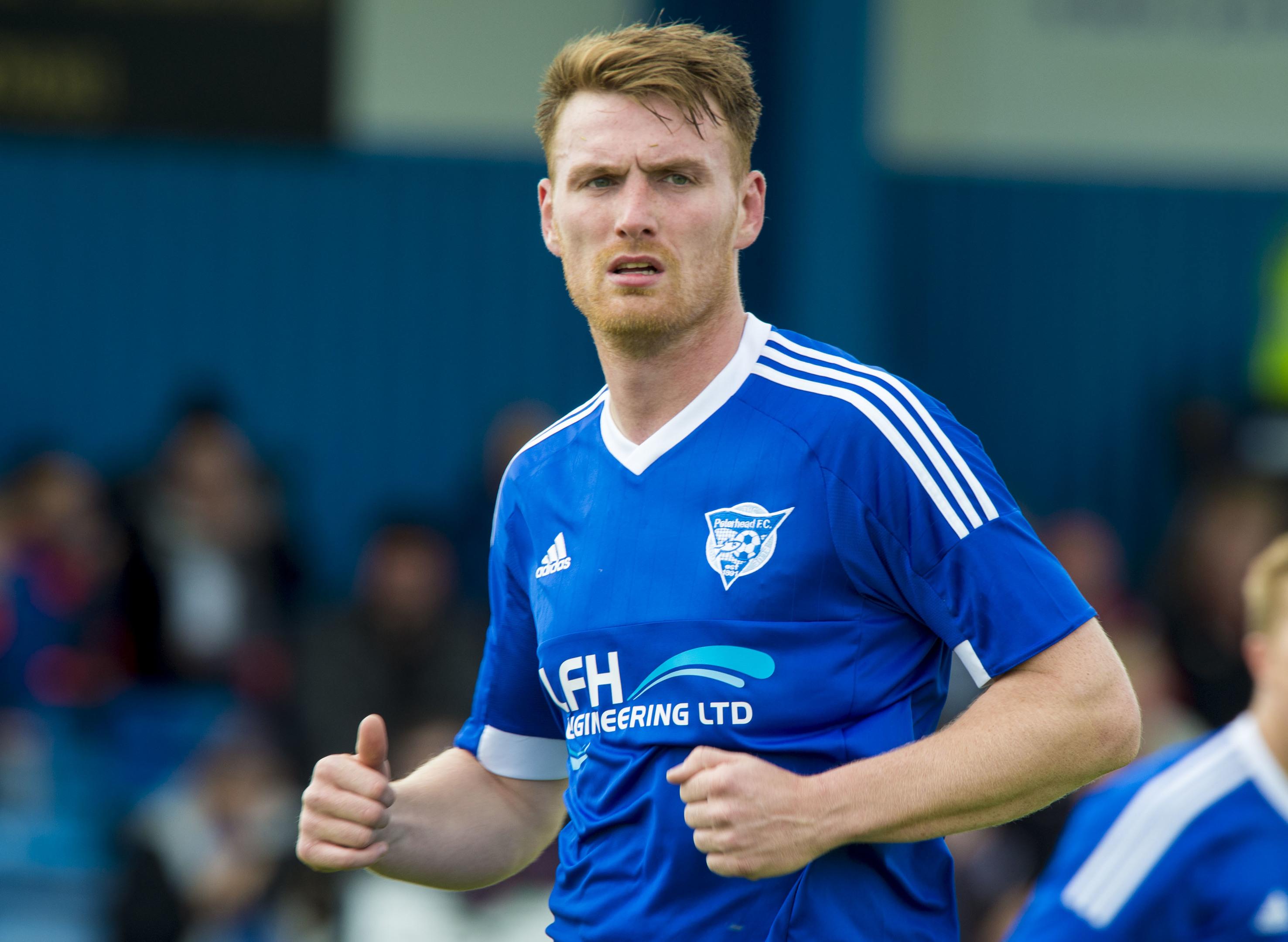 Peterhead striker Rory McAllister.