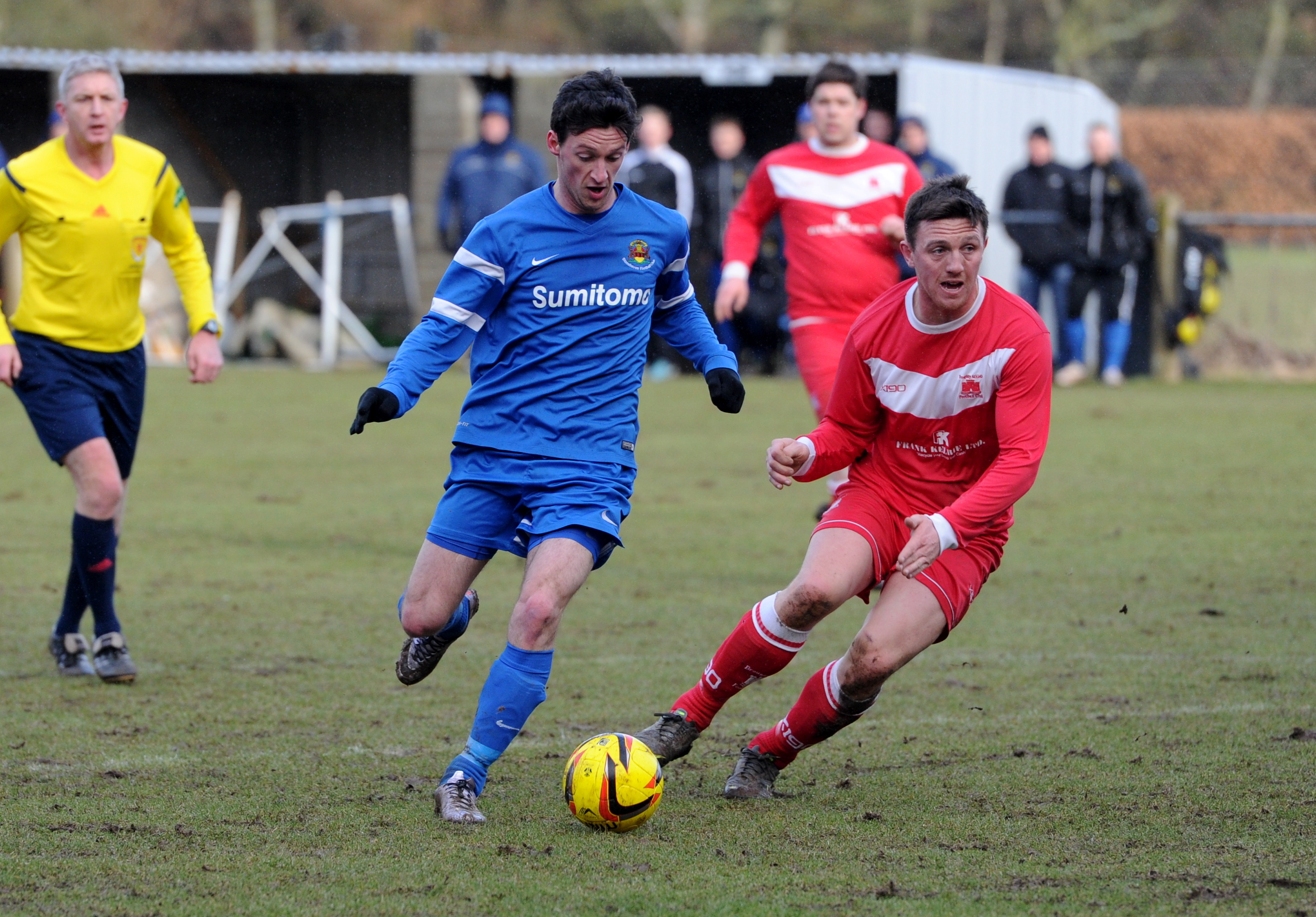 Stonehaven's Robert Armstrong scores to make it 1-1.
