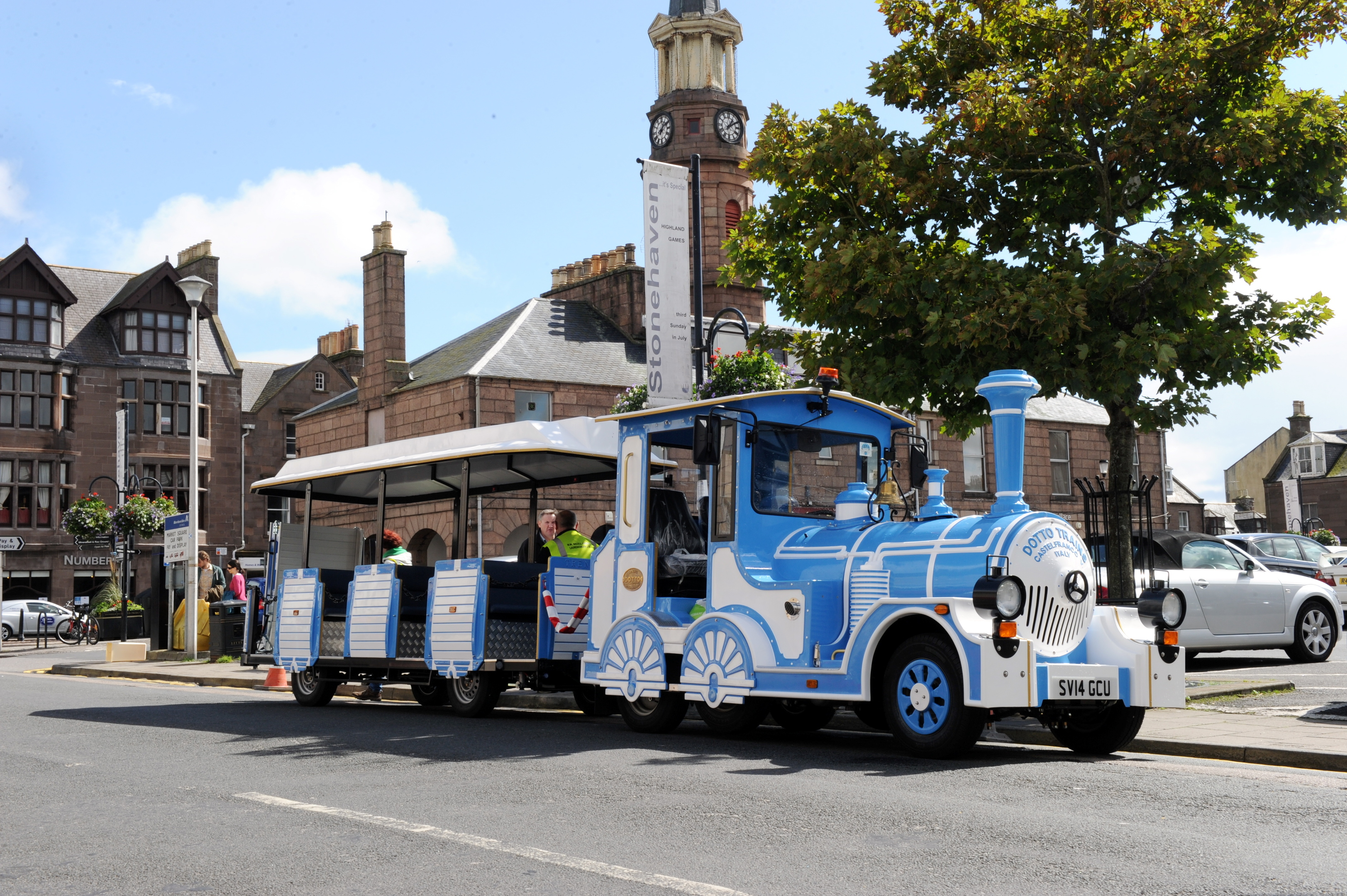 The Stonehaven land train is to get a second carriage soon.