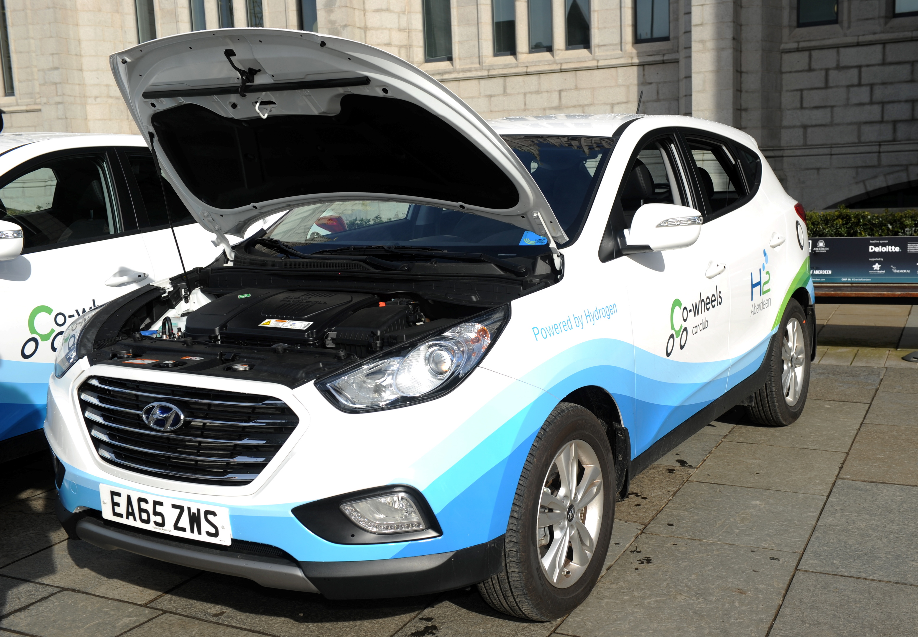 One of the hydrogen powered Hyundai ix35s.
